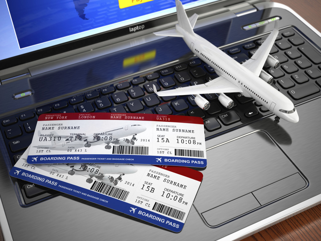 Авиабилеты на ноутбуке