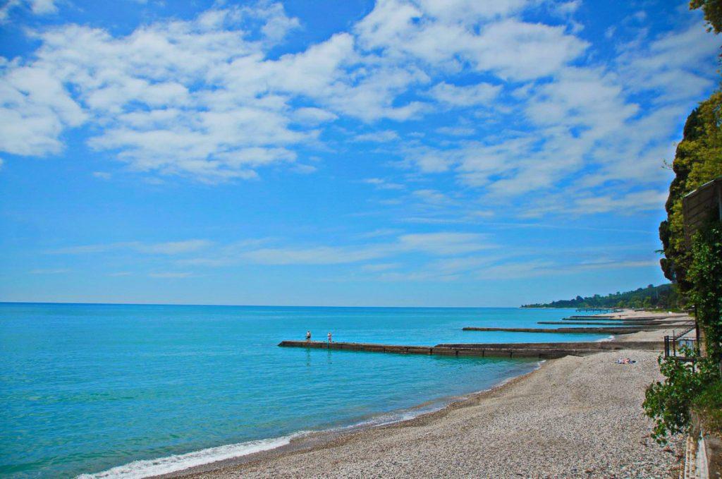 Абхазия Новый Афон пляж