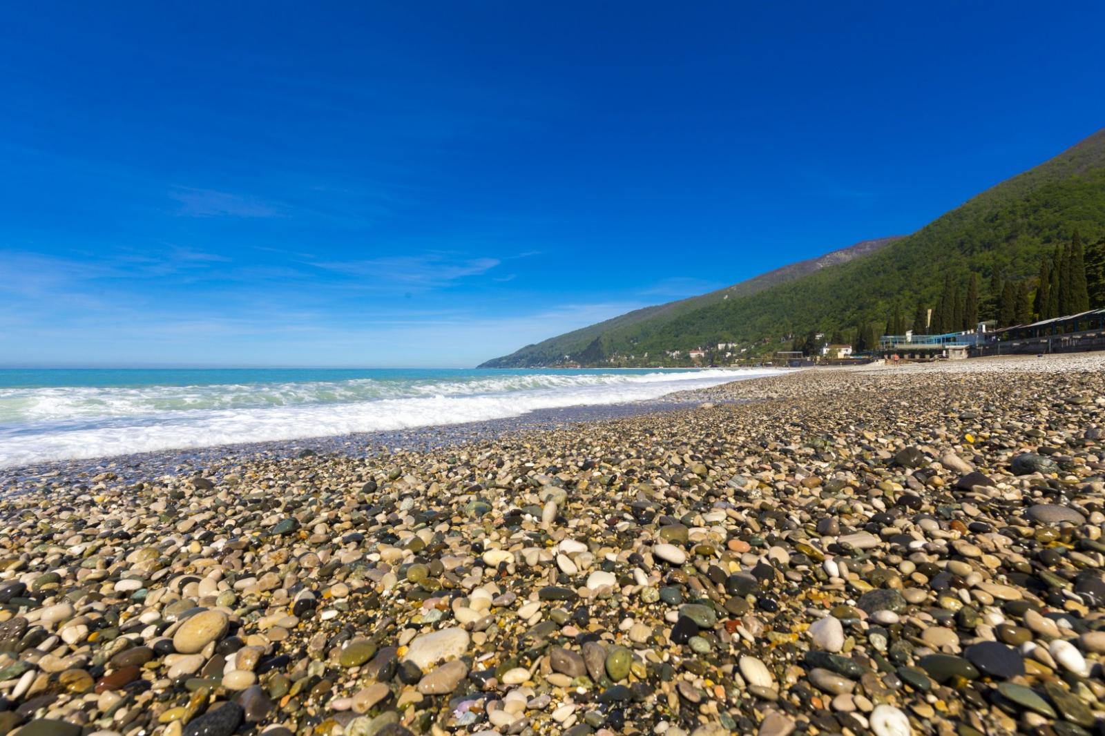 Пляж в абхазии картинки