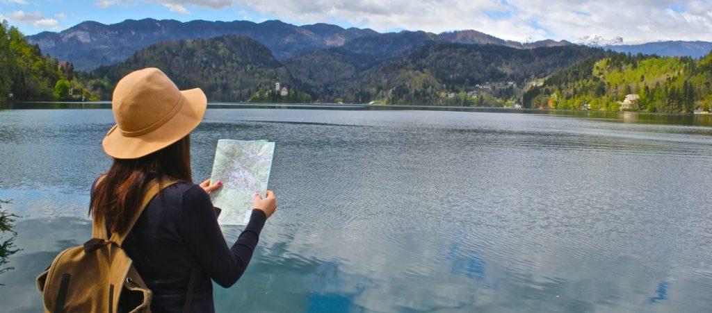 озеро красивый вид карта