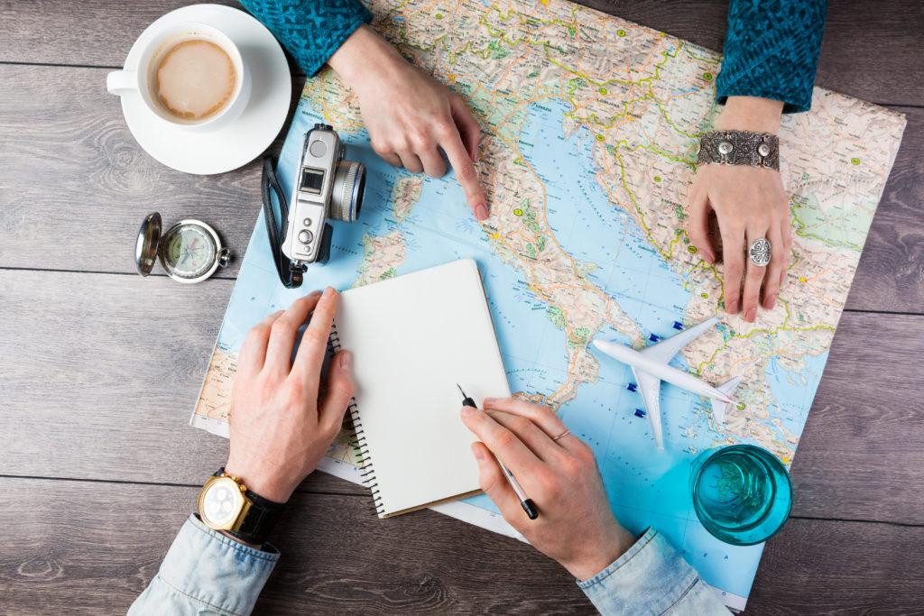Карта поездки путешествия