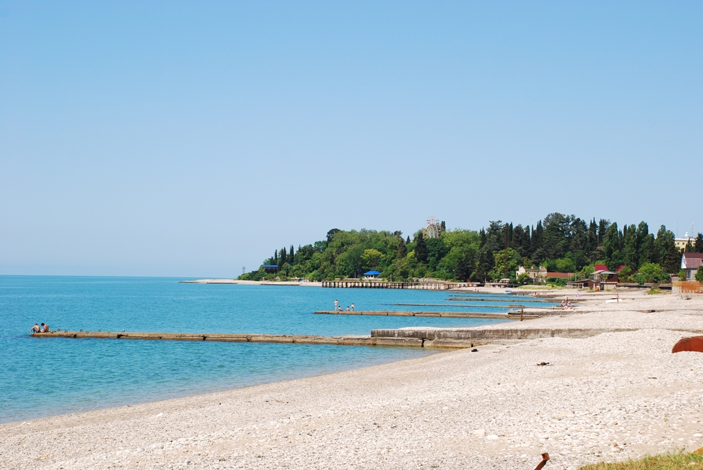 Абхазия Гудаута пляж