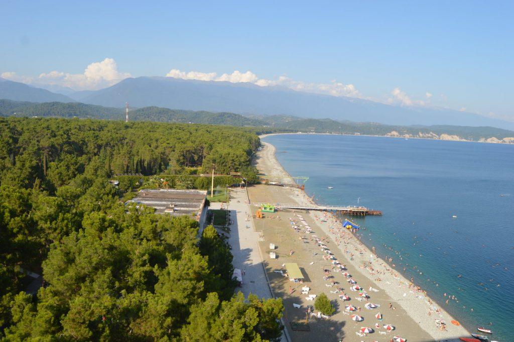 Абхазия Пицунда пляж