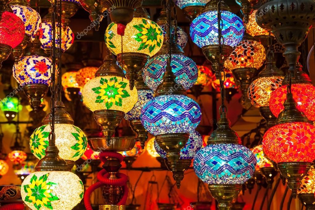 лампы из цветного стекла