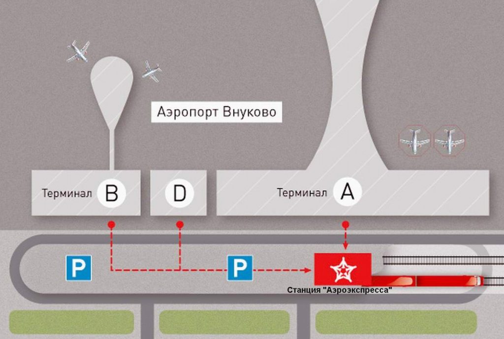 аэроэкспресс в аэропорту Внуково