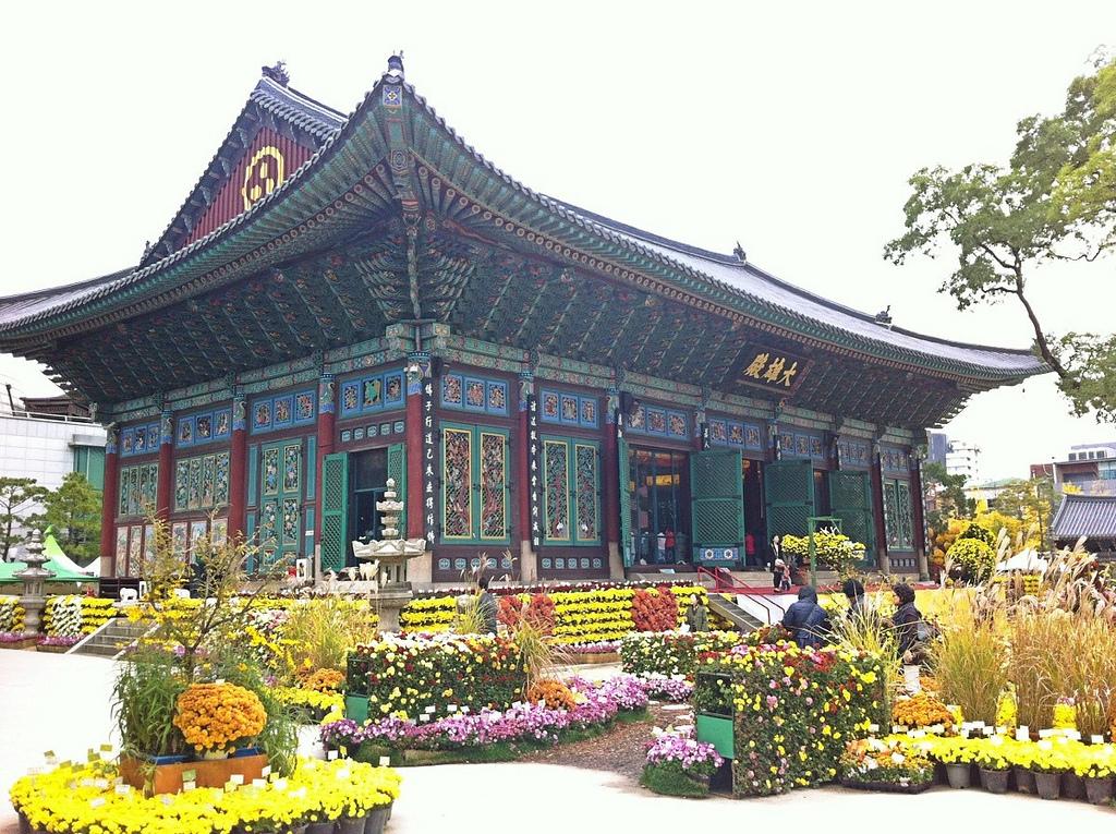 Храм Чогеса Южная Корея