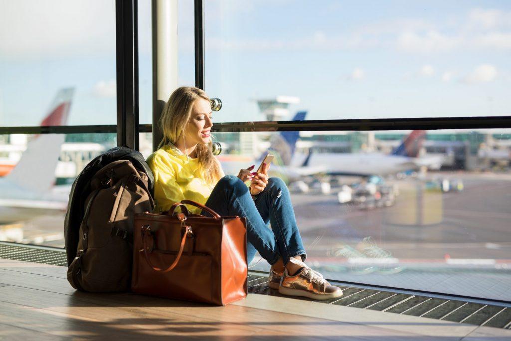 Перелет с пересадкой ожидание самолета