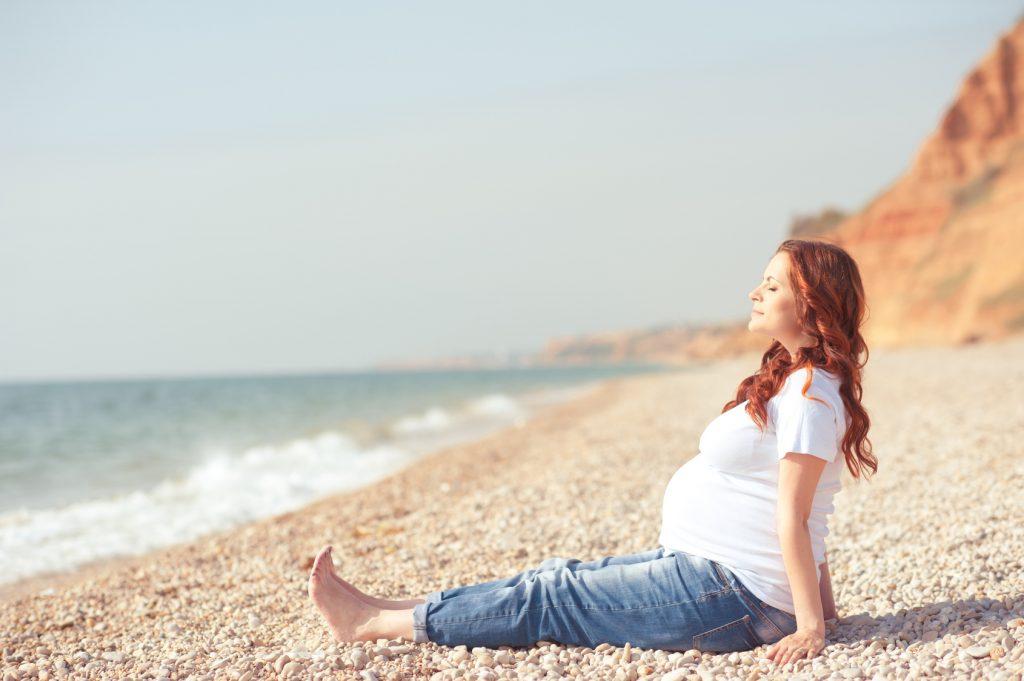 беременные на море