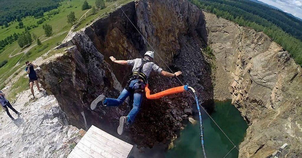 Прыжок в провал Хакасия