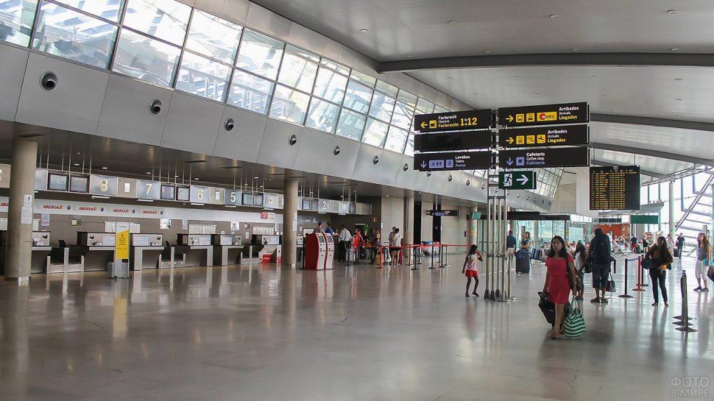Аэропорт зал указатели